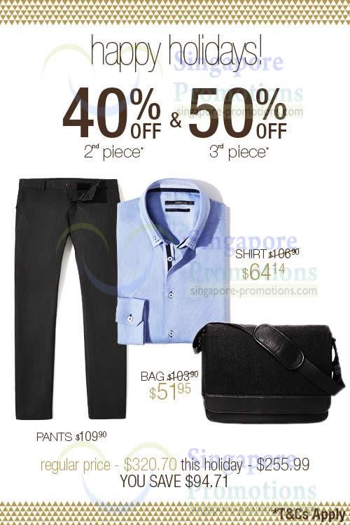 Savings Example 2 Celio Shirt, Bag, Pants