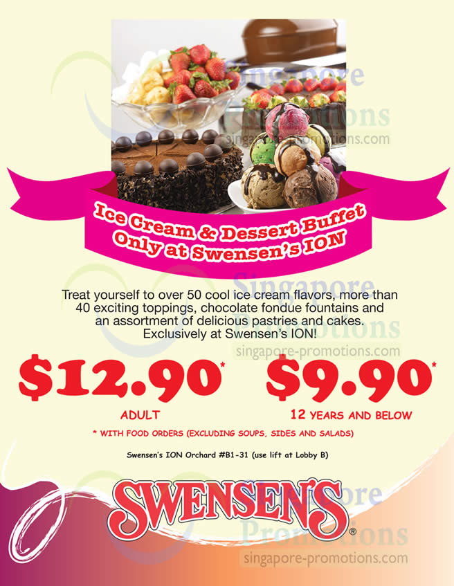 Swensen S All You Can Eat Ice Cream Amp Dessert Buffet Promo