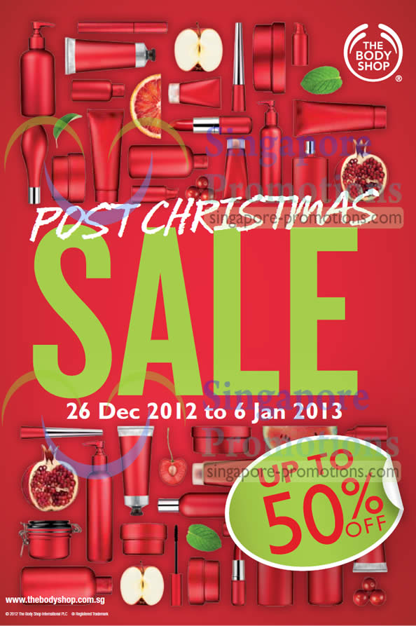The Body Shop Post Christmas Sale