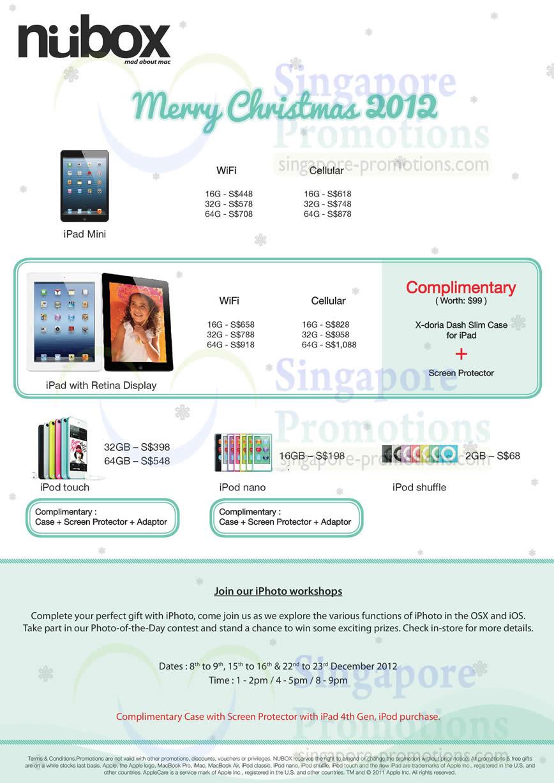 iPad Mini, iPad with Retina Display, iPod Touch, iPod Nano, iPod Shuffle