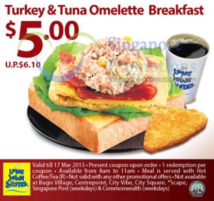 5.00 Turkey n Tuna Omelette Breakfast