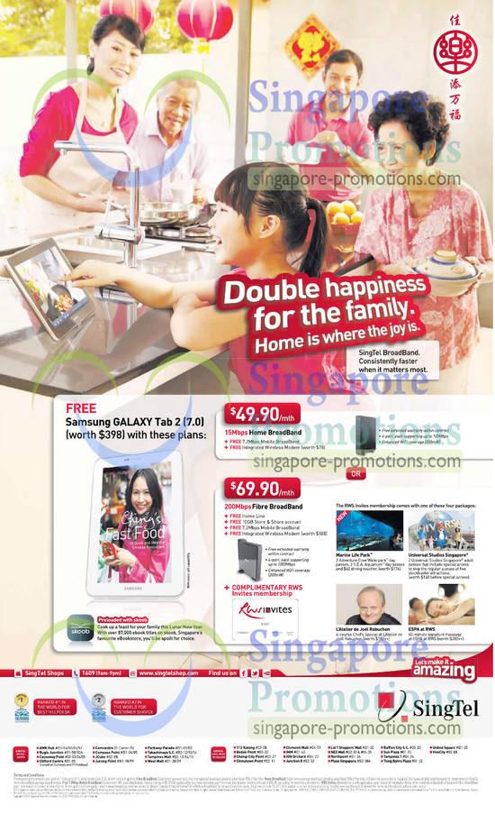 ADSL Broadband 15Mbps, Fibre 200Mbps Broadband, Free Samsung Galaxy Tab 2 7.0
