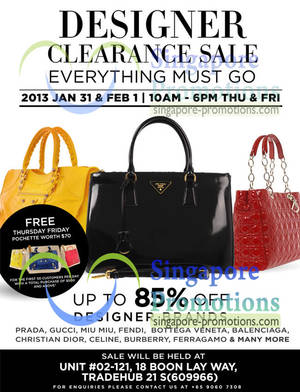Clout Shoppe Branded Handbags Up To 80% Off Sale   Tradehub 21 31 Jan – 1  Feb 2013 bdb427103e354