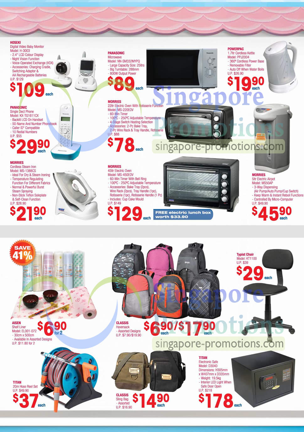 Kitchen Appliances Backpacks Hoseki H 3003 Baby Monitor