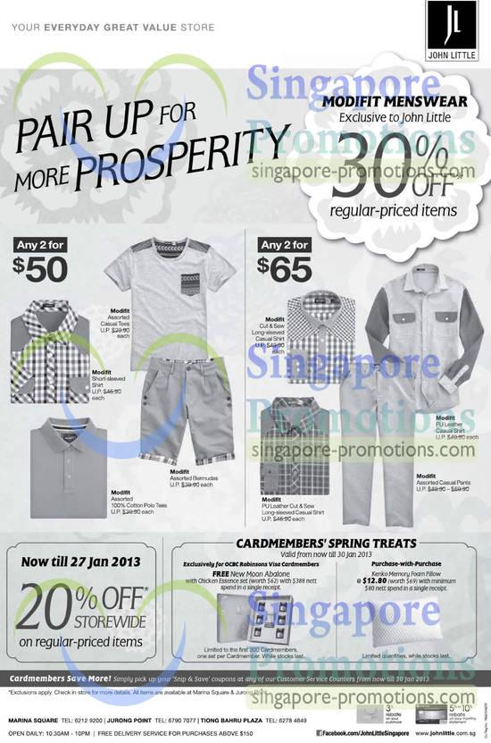 Modifit Short-sleeve Shirt, Modifit Polo-Tees, Modifit Bermudas, Modifit Casual Tees, Modifit Casual Pants, Modifit PU Leather Casual Shirt, Modifit Cut and Sew Long-sleeved Casual Shirt, Modifit PU Leather Cut and Sew Long-sleeved Casual Shirt