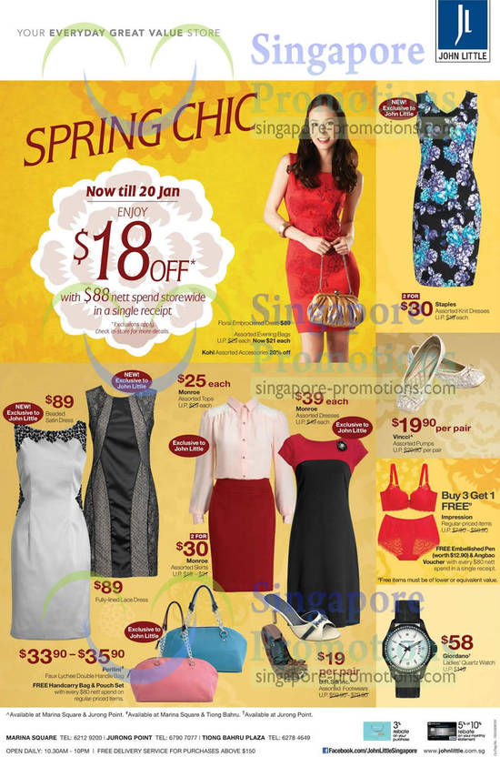 Womens Fashion, 18 Dollar Off With 88 Spend, Staples, Monroe, Vincci, Perlini