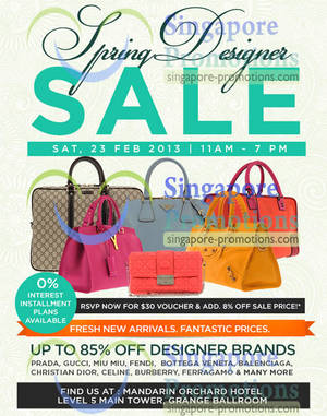 Clout Shoppe Branded Handbags Up To 85% Off Sale   Mandarin Orchard Hotel  23 Feb 2013 e8dcb134c54a6