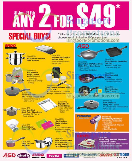 Kitchenware, Endo, ASD, Panasonic Hair Dryer
