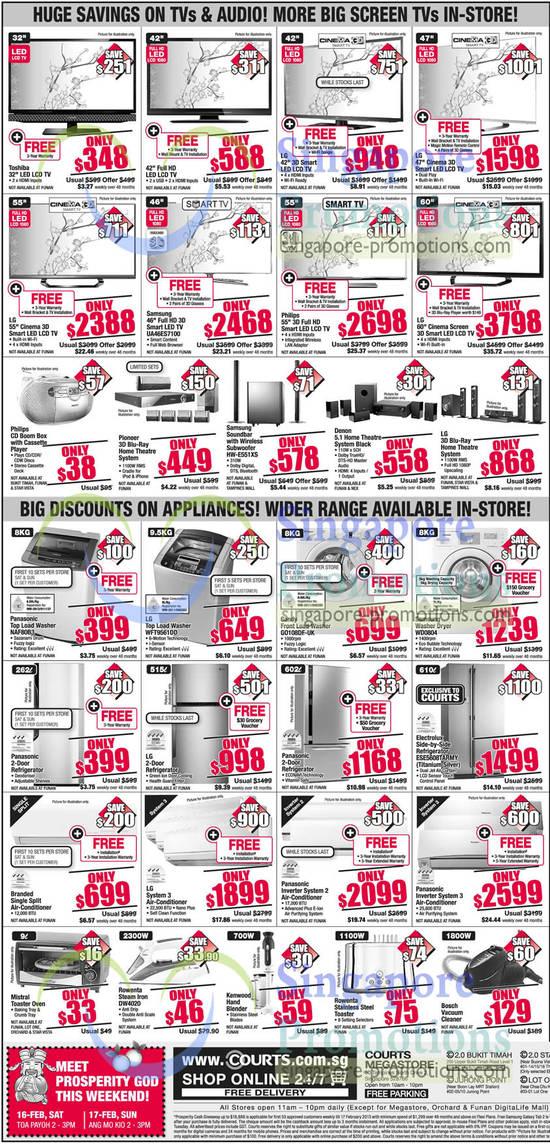 Samsung UA46ES7100 LED TV, Samsung HW-E551XS Soundbar, LG WFT9561DD Washer, Candy G0108DE-UK Washer, Samsung WD0804 Washer, Electrolux ESE5608TARMY Fridge