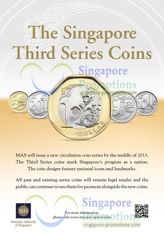 Singapore New Coins 21 Feb 2013