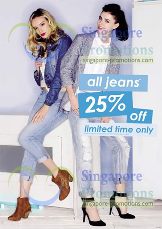 25 Percent Off All Jeans