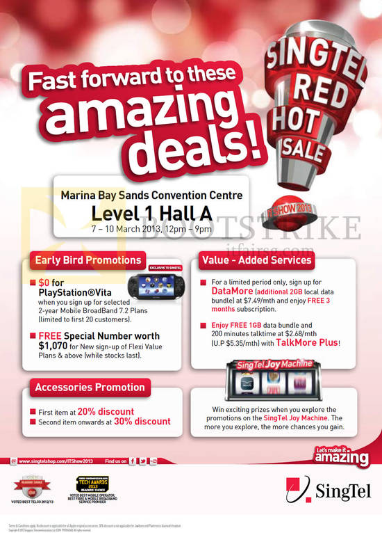 Early Bird Promotions, Free Playstation Vita, Free Special Number, Accessories Discount, Joy Machine