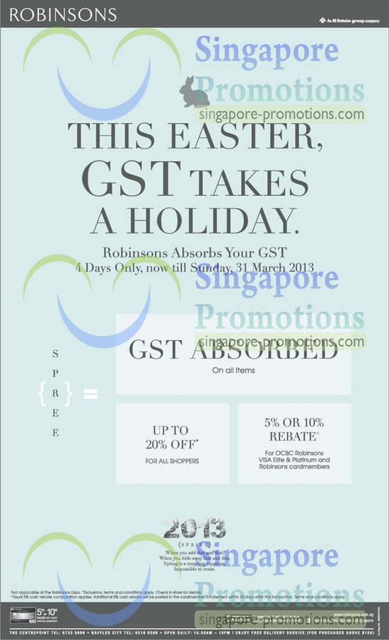 GST Absorbed on Easter Day