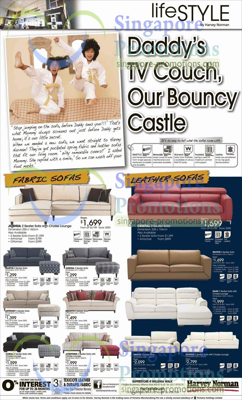 Sofa Sets Joshua, Martin, Cristal, Milton, Anthony, Coral, Vance