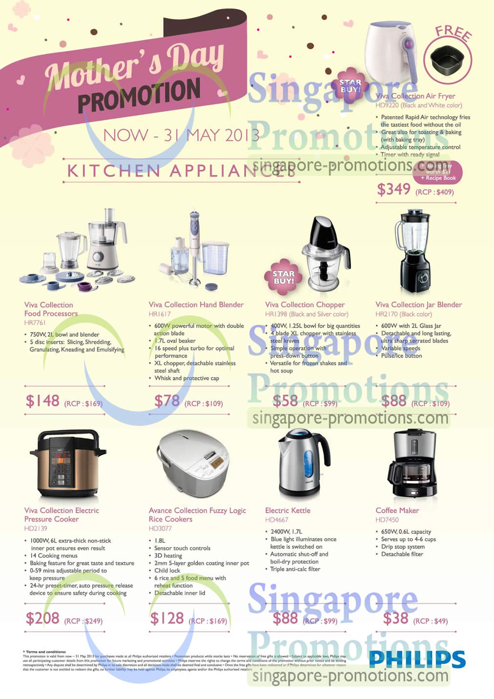 Kitchen Appliances, Viva Collection, Food Processor, Chopper, Blender
