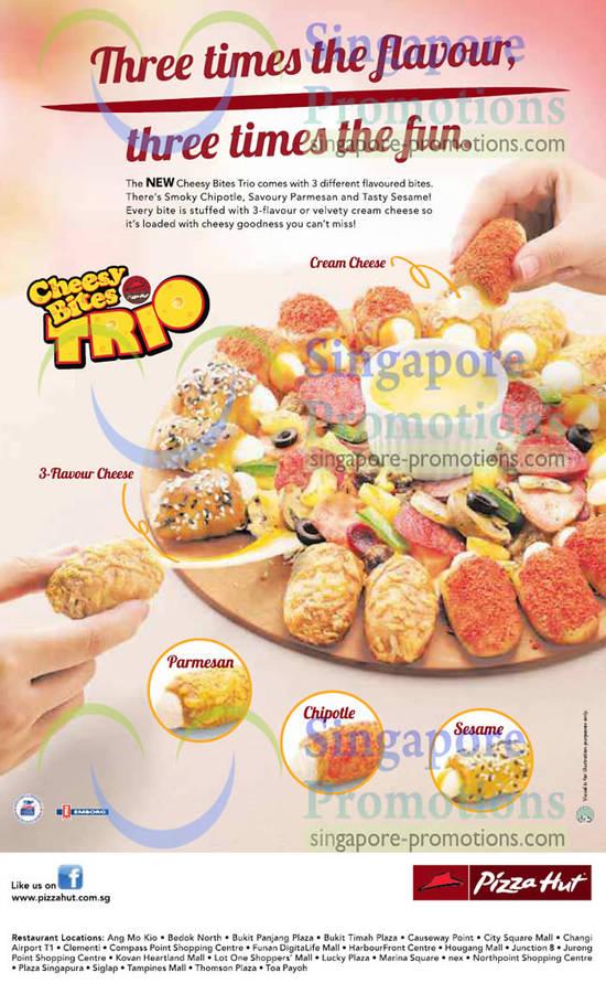 NEW Cheesy Bites Trio Pizza