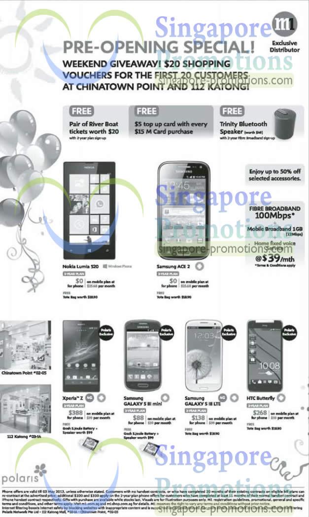 Polaris Nokia Lumia 520, Samsung Galaxy Ace 2, Sony Xperia Z, HTC Butterfly, Samsung Galaxy S III Mini, S III LTE