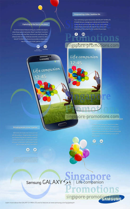 S4 Features, Capturing Fun, Empowering Life, Convenience