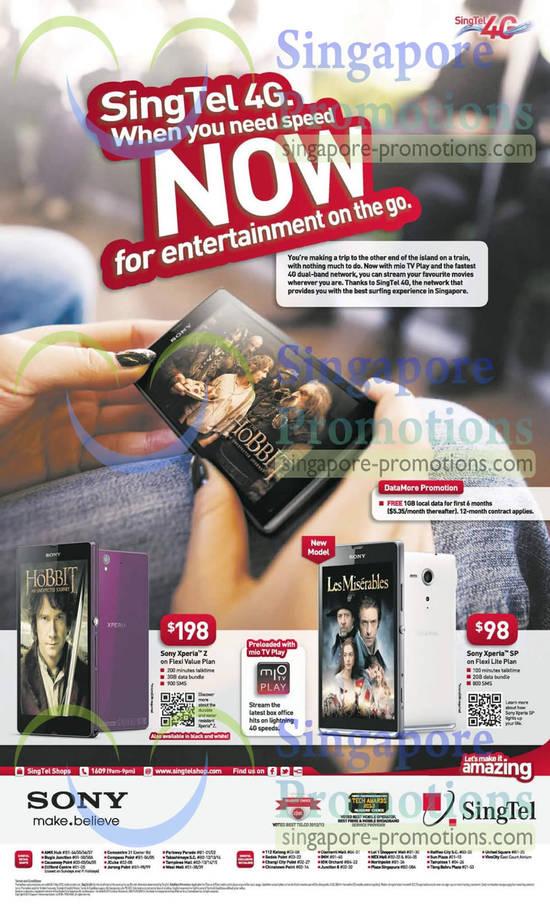 Sony Xperia Z, Sony Xperia SP