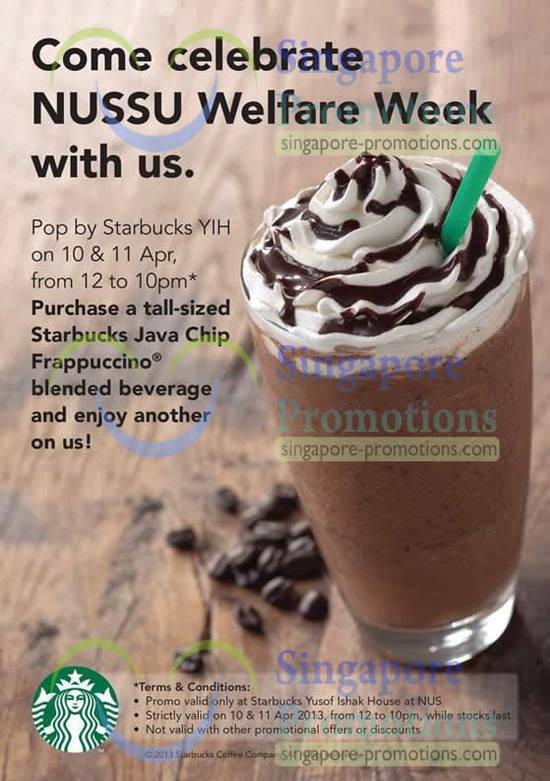 Starbucks NUS 1 For 1 Promo Details
