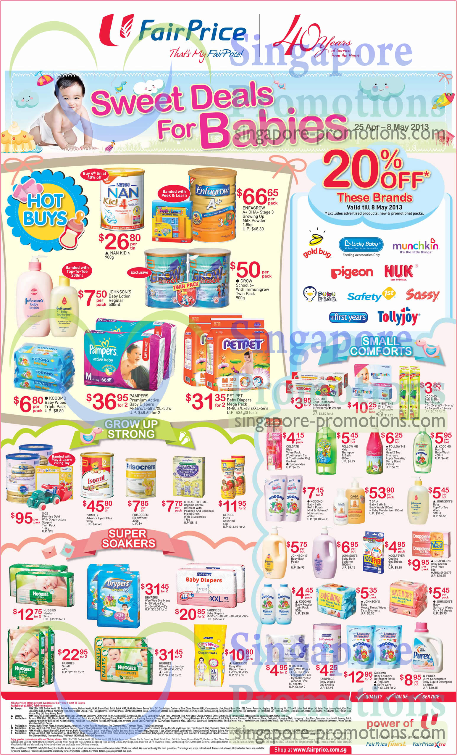 Sweet Deals For Babies 20 Percent Off Selected Brands