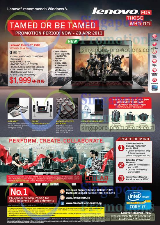 Lenovo ldeaPad Y500 Notebook 59356364
