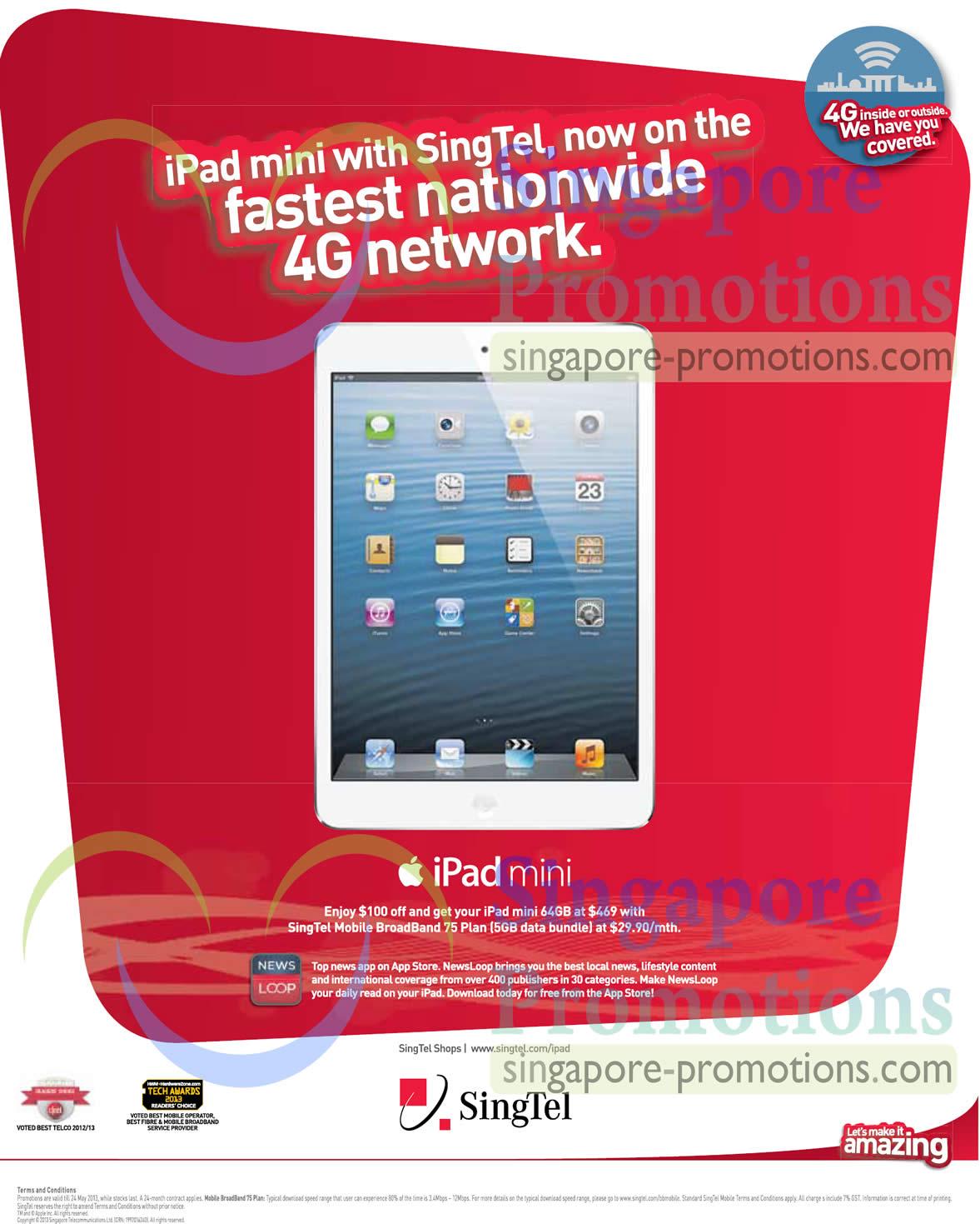 Singtel Smartphones, Tablets, Home / Mobile Broadband & Mio TV