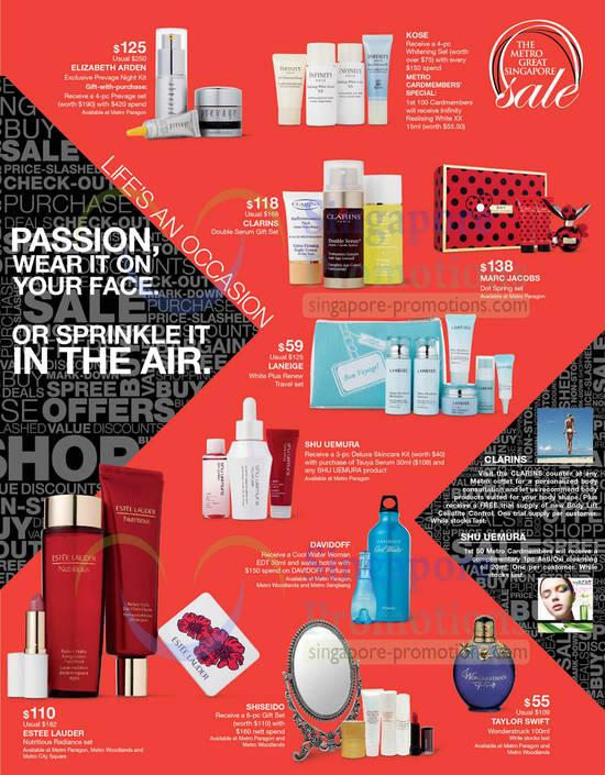 Beauty Elizabeth Arden, Kose Whitening, Clarins, Marc Jacobs, Shiseido, Taylor Swift