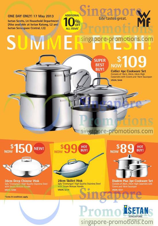 Collier, Deep Chinese Wok, Skillet Wok, Diadem Plus Cookware Set