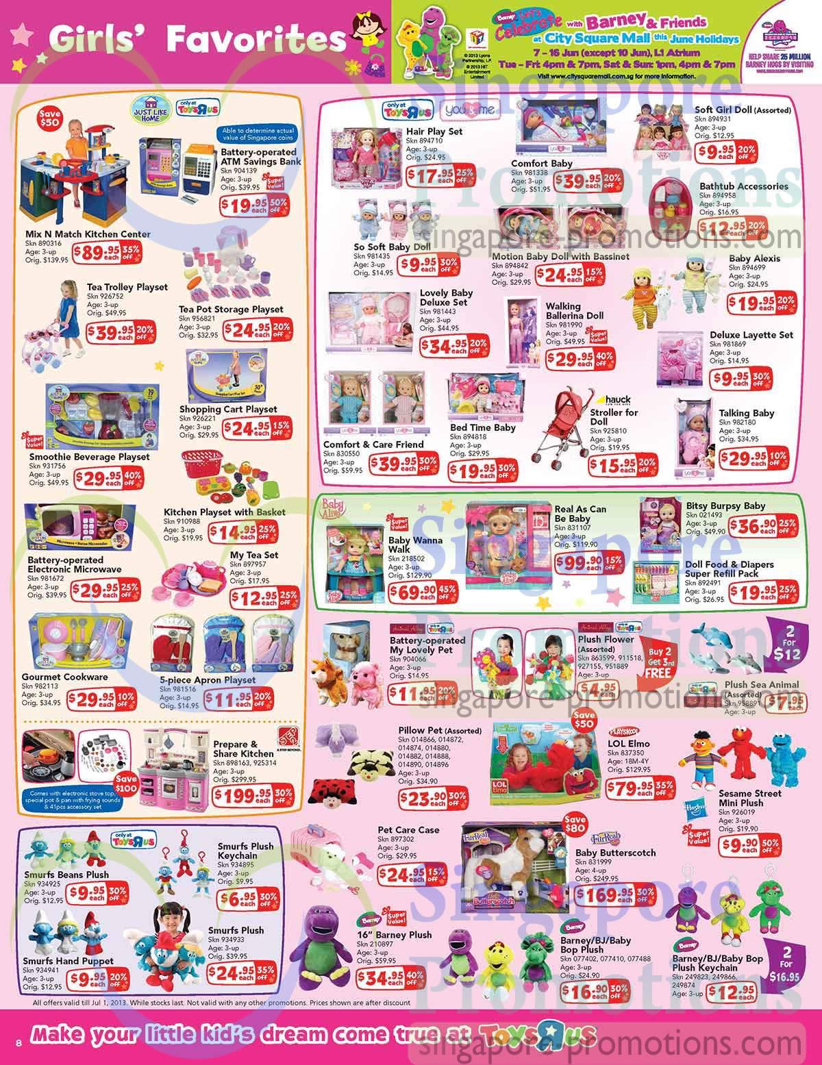 Girls Favourites, Dolls, Playsets, Plush Toys, Barney -2284