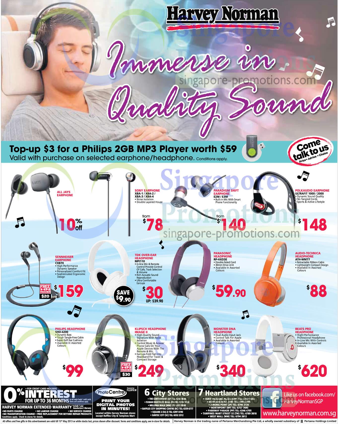 Harvey Norman Headphones 9 May 2013