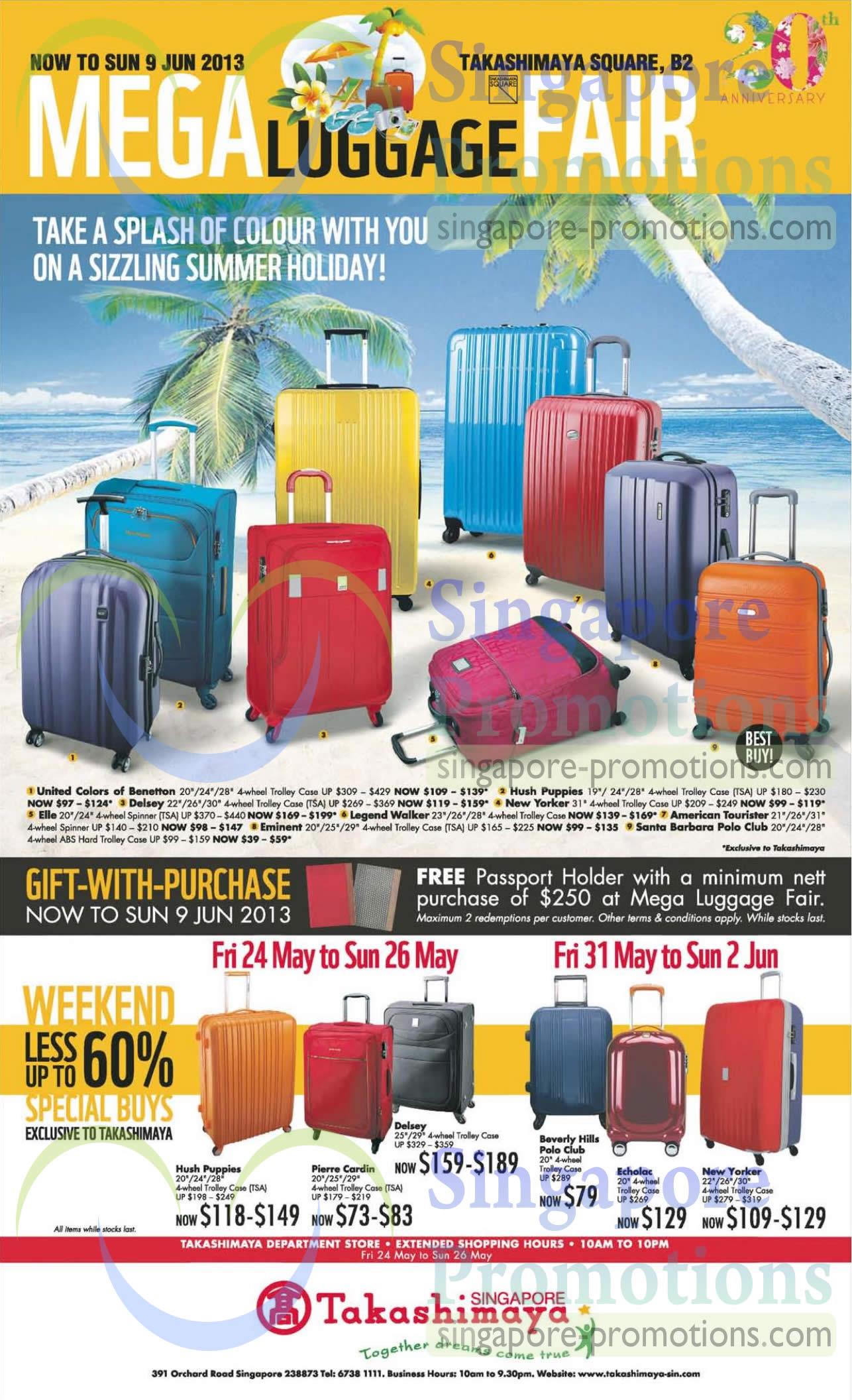 May 2013 Fashion Magazine Covers: Takashimaya 22 May 2013 » Takashimaya Mega Luggage Fair Up
