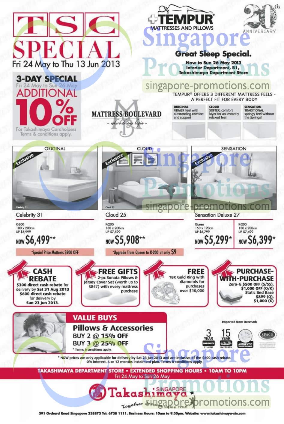 tempur celebrity 31 mattress cloud 25 mattress sensation. Black Bedroom Furniture Sets. Home Design Ideas