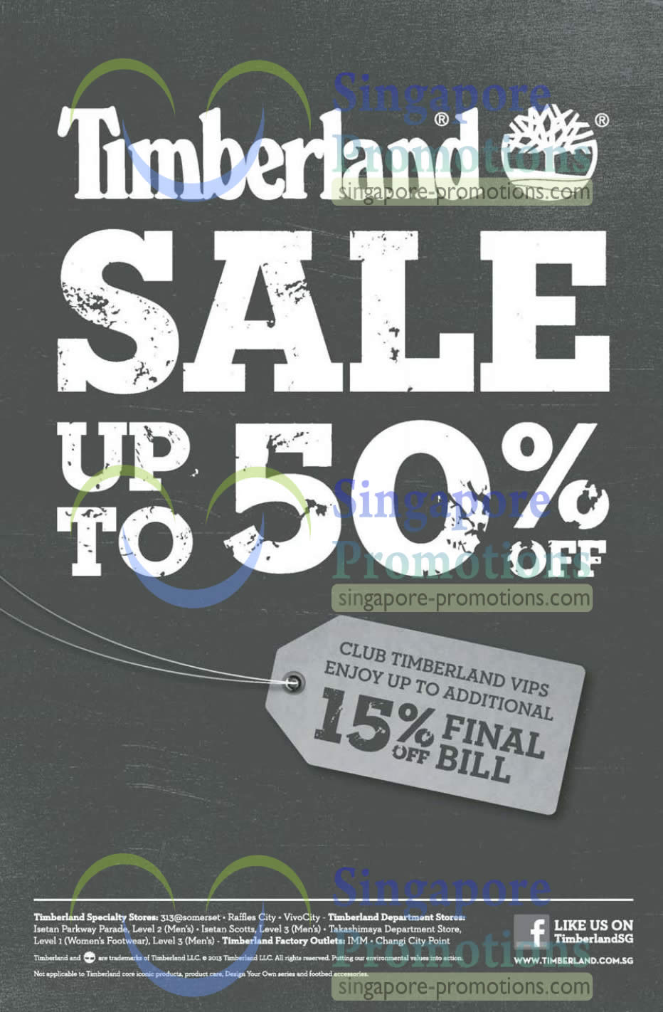 Timberland Mid Year Sale Up To 50% Off Promo 23 May – 7 Jul 2013