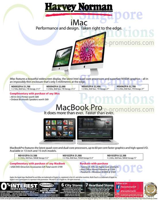 Apple iMac, MacBook Pro