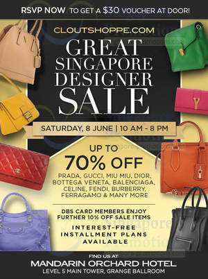 Clout Shoppe Branded Handbags Up To 70% Off Sale   Mandarin Orchard Hotel 8  Jun 2013. List of Gucci ... cca6944891a65