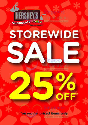 Featured image for Hershey's 25% Off Storewide Sale @ Selected Locations 1 Jun 2013