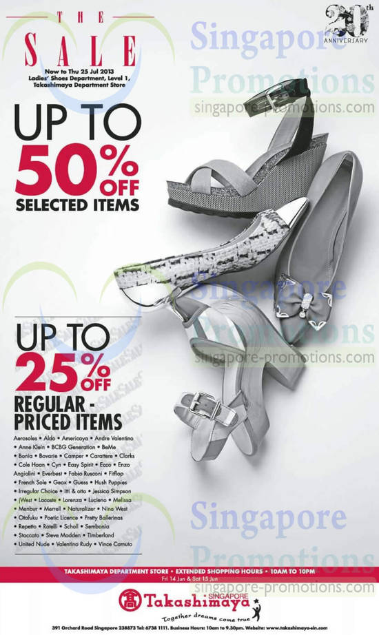 Ladies Shoes up to 50 Percent Off