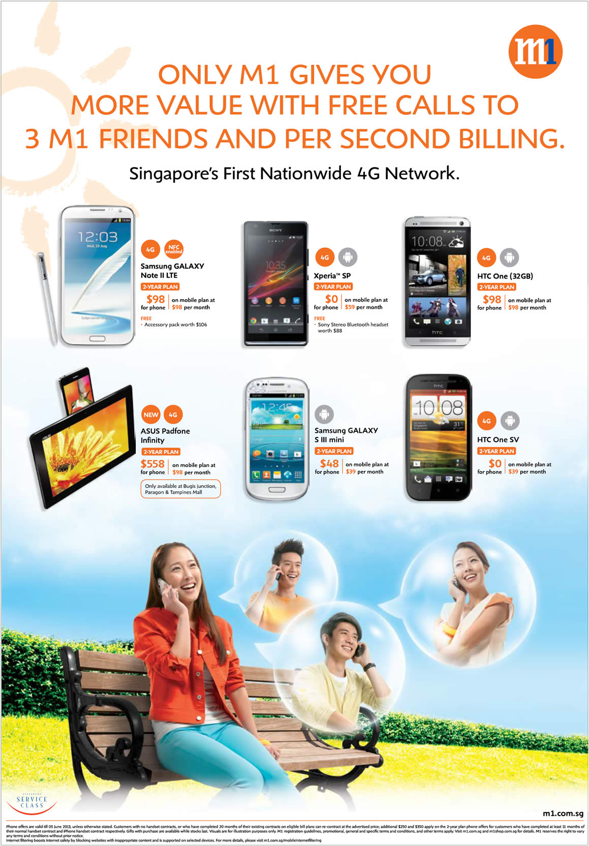 Samsung Galaxy Note II LTE, S III Mini, Sony Xperia SP, HTC One, ASUS Padfone Infinity, HTC One SV
