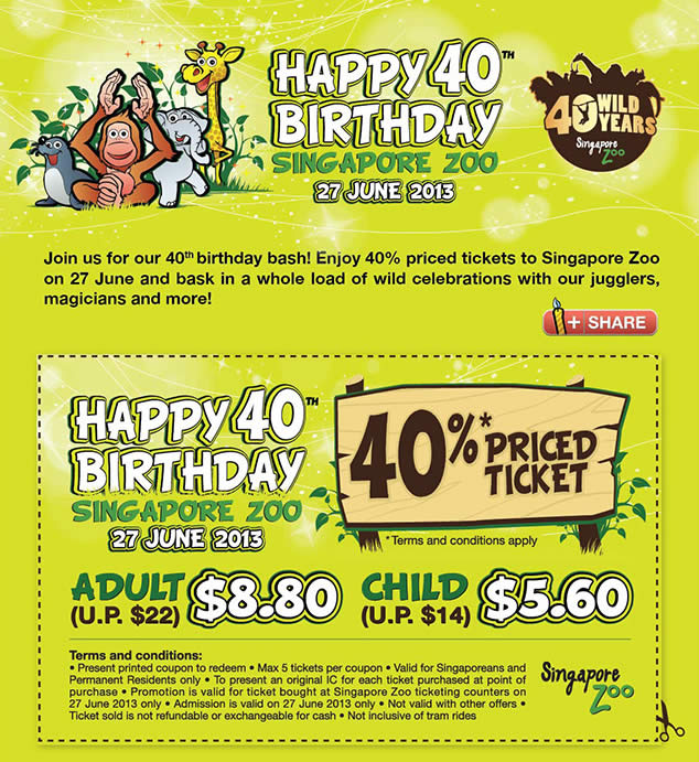 Citibank Online Sign In >> Singapore Zoo 20 Jun 2013 » Singapore Zoo 40% Off ...