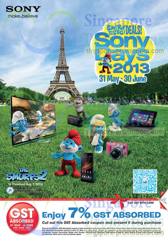Smurftastic Deals. Sony Days 2013 from 31 May - 30 June