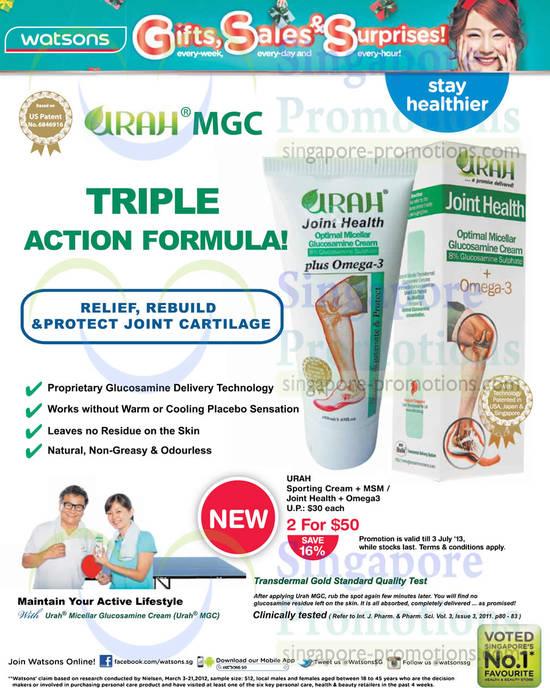 Urah Sporting Cream, Joint Health