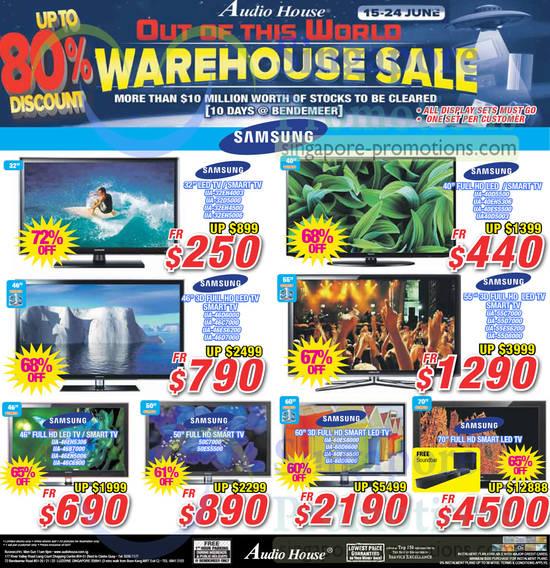Warehouse Sale TVs Samsung, LED, Smart, Full HD