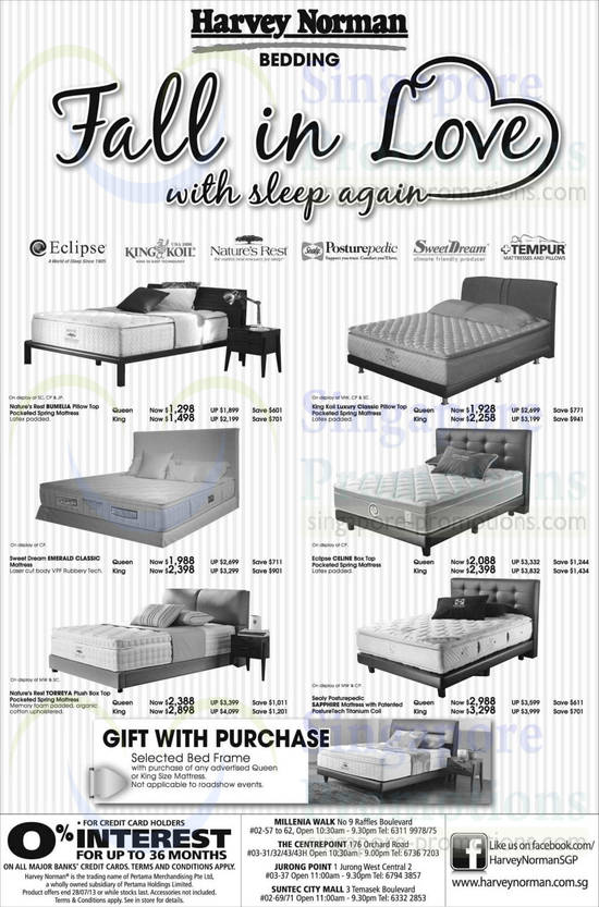 Nature's Rest Bumelia Mattress, King Koil Luxury Classic Mattress, Sweet Dream Emerald Classic Mattress, Eclipse Celine Mattress, Nature's Rest Torreya Mattress and Sealy Posturepedic Sapphire Mattress