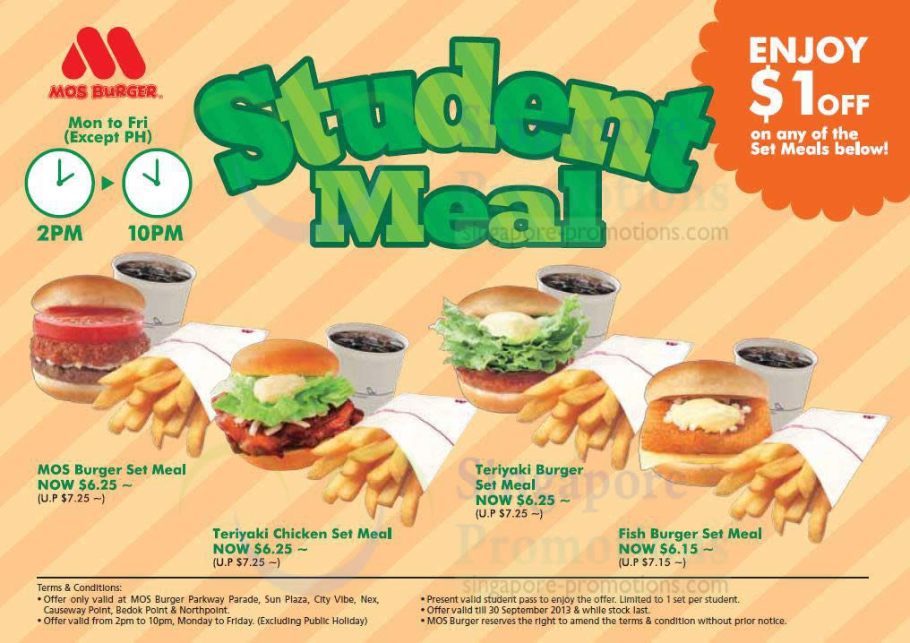 Citibank Online Sign In >> Mos Burger 1 Jul 2013 » Mos Burger Student $1 Off Promo ...