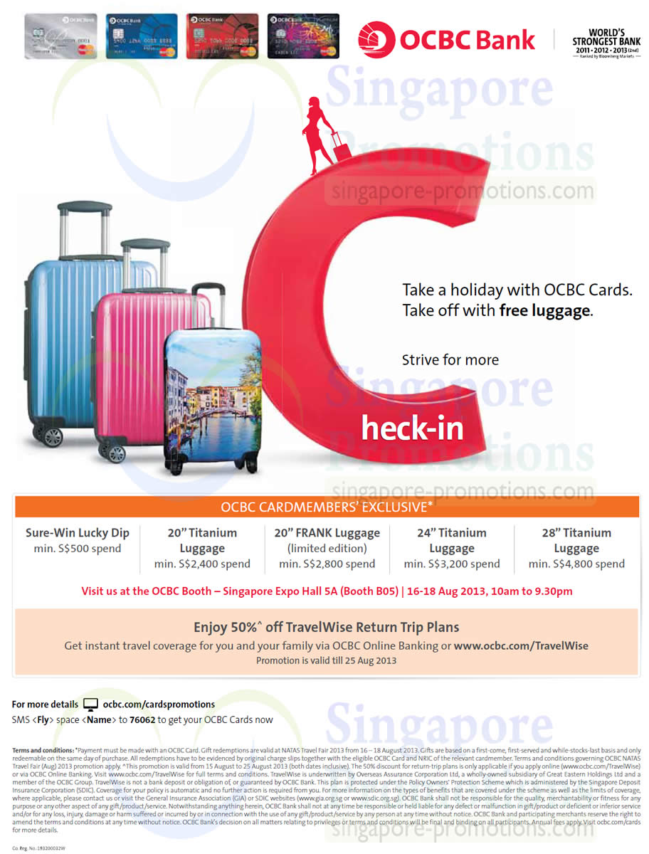 15 Aug Ocbc Credit Cards Spend N Redeem Sure Win Lucky Dip Luggage Travel Insurance 187 Natas
