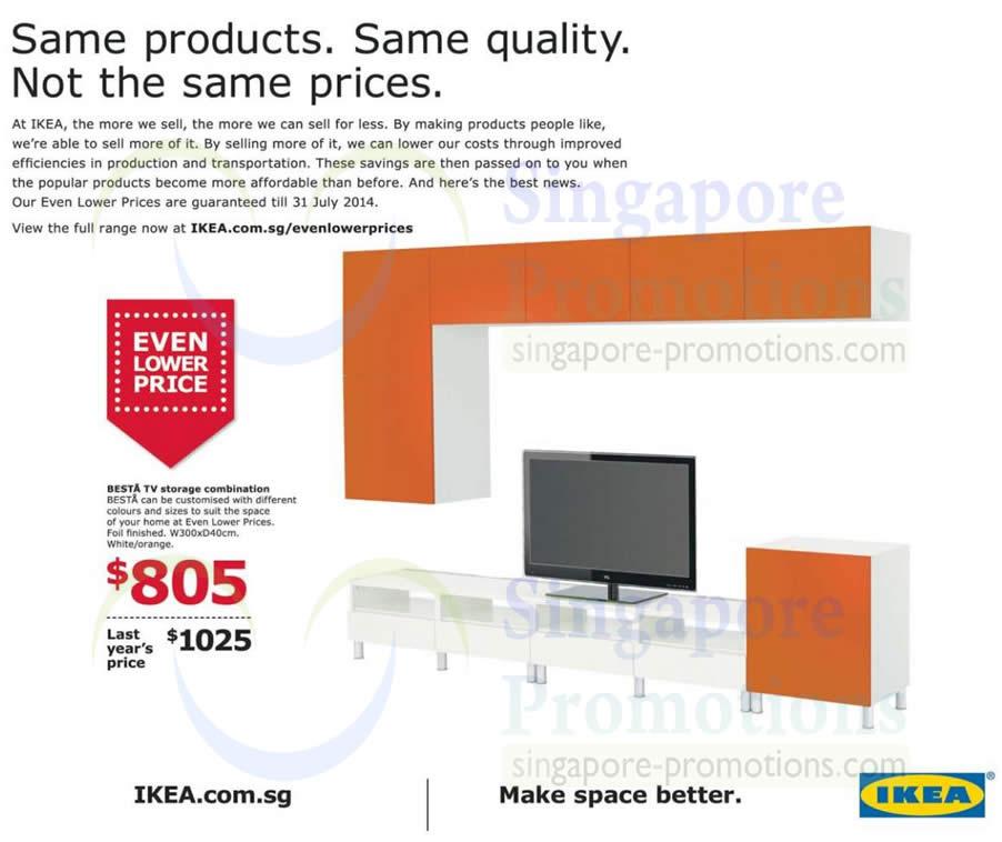 Even Pricing: Besta TV Storage Combination Even Lower Price » IKEA NEW