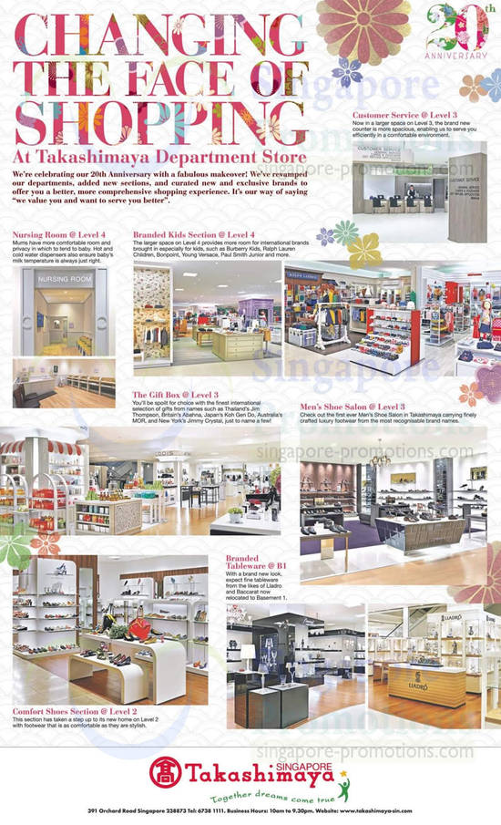Dept Store Makeover Highlights, Branded Tableware, Gift Box, Mens Shoe Salon
