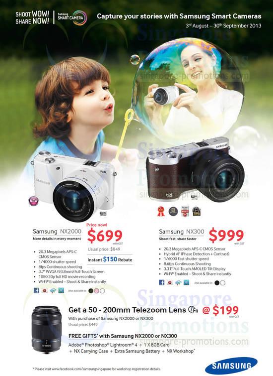 Samsung NX2000 Digital Camera and Samsung NX300 Digital Camera