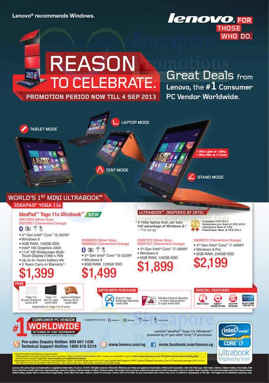 Lenovo IdeaPad Yoga 11s Notebook